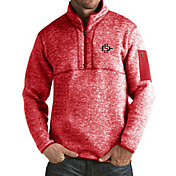 Antigua Men's San Diego State Aztecs Scarlet Fortune Pullover Jacket