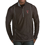Antigua Men's Texas Tech Red Raiders Black Tempo Half-Zip Pullover