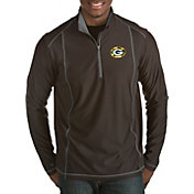 Antigua Men's Green Bay Packers Quick Snap Logo Tempo Black Quarter-Zip Pullover