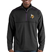 Antigua Men's Minnesota Vikings Prodigy Quarter-Zip Black Pullover