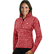 Antigua Women's Atlanta Hawks Fortune Red Half-Zip Pullover