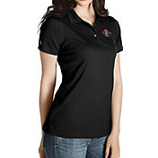 Antigua Women's San Diego State Aztecs Black Inspire Performance Polo