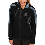 Antigua Women's Oakland Raiders Discover Full-Zip Black Jacket