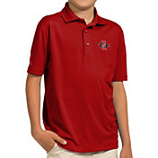 Antigua Youth San Diego State Aztecs Scarlet Pique Polo