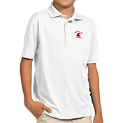 Antigua Youth Washington State Cougars White Pique Polo