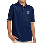 Antigua Youth Xavier Musketeers Blue Pique Polo