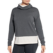 CALIA by Carrie Underwood Women's Effortless Heather Mix Media Hoodie