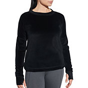 CALIA by Carrie Underwood Women's Velour Crewneck Sweatshirt