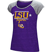 Colosseum Youth Girls' LSU Tigers Purple Sprint T-Shirt