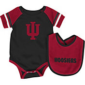 Colosseum Infant Indiana Hoosiers Roll-Out Onsie And Bib Set