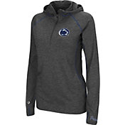 Colosseum Women's Penn State Nittany Lions Charcoal Capo Ferro Quarter-Zip Hooded Windshirt