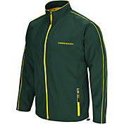 Colosseum Men's Oregon Ducks Green Barrier Full Zip Wind Jacket