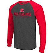 Colosseum Men's Rutgers Scarlet Knights Grey Olympus II Long Sleeve Shirt