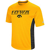 Colosseum Men's Iowa Hawkeyes Gold Beamer T-Shirt