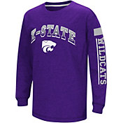 Colosseum Youth Kansas State Wildcats Purple Grandstand Long Sleeve T-Shirt