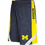 Colosseum Athletics Youth Michigan Wolverines Blue Setter Shorts