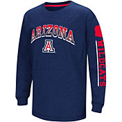 Colosseum Youth Arizona Wildcats Navy Grandstand Long Sleeve T-Shirt