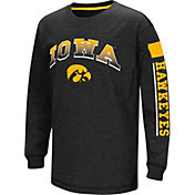 Colosseum Youth Iowa Hawkeyes Black Grandstand Long Sleeve T-Shirt