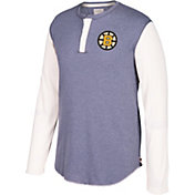 CCM Men's Boston Bruins Henley Grey Long Sleeve Shirt