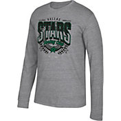 CCM Men's Dallas Stars Centennial Fly High Heather Grey Long Sleeve Shirt