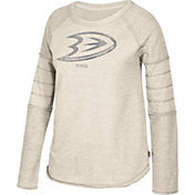 CCM Women's Anaheim Ducks Grey Raglan Long Sleeve Shirt