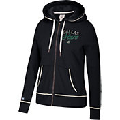 CCM Women's Dallas Stars Logo Fleece Black Full-Zip Hoodie