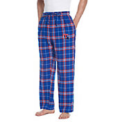 Concepts Sport Men's Louisiana Tech Bulldogs Blue/Red Huddle Sleep Pants