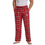 Concepts Sport Men's NC State Wolfpack Red/Black Huddle Sleep Pants