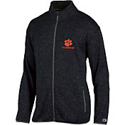 Champion Men's Clemson Tigers Grey Playbook Full-Zip Jacket