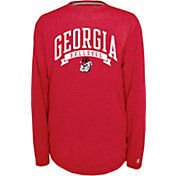 Champion Georgia Bulldogs Red Pursuit Long Sleeve Shirt