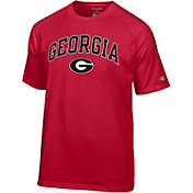 Champion Men's Georgia Bulldogs Red Word Logo T-Shirt