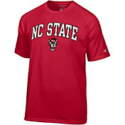 Champion Men's North Carolina State Wolfpack Red Word Logo T-Shirt