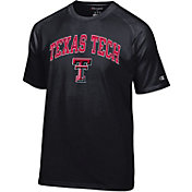 Champion Men's Texas Tech Red Raiders Black Word Logo T-Shirt