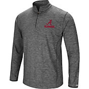 Colosseum Men's Alabama Crimson Tide Grey Action Pass Quarter-Zip Shirt