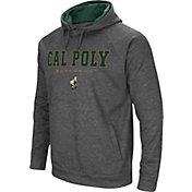 Colosseum Men's Cal Poly Mustangs Grey Fleece Hoodie