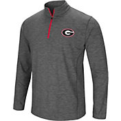 Colosseum Men's Georgia Bulldogs Grey Action Pass Quarter-Zip Shirt