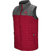 Colosseum Men's Oklahoma Sooners Crimson/Grey Amplitude Puff Vest