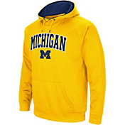 Colosseum Men's Michigan Wolverines Maize Performance Hoodie
