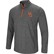 Colosseum Men's Mercer Bears Grey Action Pass Quarter-Zip Shirt