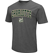 Colosseum Men's Charlotte 49ers Grey Dual Blend T-Shirt