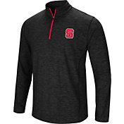Colosseum Men's NC State Wolfpack Black Action Pass Quarter-Zip Shirt