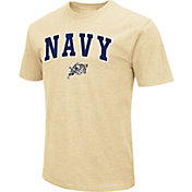 Colosseum Men's Navy Midshipmen Navy Dual Blend T-Shirt