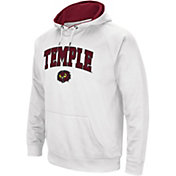 Colosseum Men's Temple Owls White Performance Hoodie