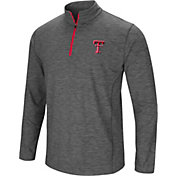 Colosseum Men's Texas Tech Red Raiders Grey Action Pass Quarter-Zip Shirt