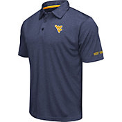 Colosseum Men's West Virginia Mountaineers Blue Axis Polo