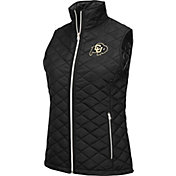 Colosseum Women's Colorado Buffaloes Black Elite Quilted Full-Zip Vest