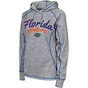 Colosseum Women's Florida Gators Grey Crossneck Pullover Hoodie