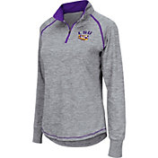 Colosseum Women's LSU Tigers Grey Bikram Quarter-Zip Top