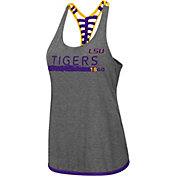 Colosseum Women's LSU Tigers Grey Kimono Racerback Tank Top