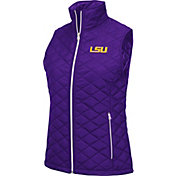 Colosseum Women's LSU Tigers Purple Elite Quilted Full-Zip Vest